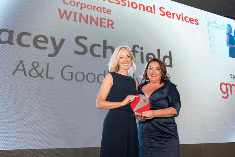 Tracey Schofield wins 'Best in Professional Services' award