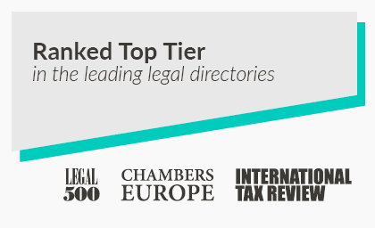 Ranked top tier in the legal legal directories - Tax