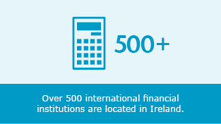 Over 500 international institutions are located in Ireland.