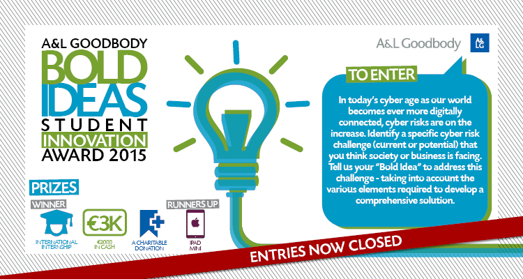 Bold Ideas Student Innovation Award 2015 now closed