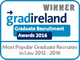 Most Popular Graduate Recruiter in Law 2012-2016