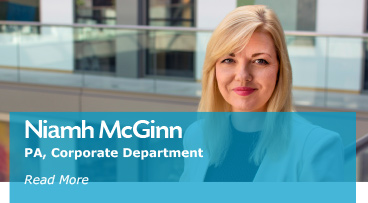 Niamh McGinn PA, Corporate Department at A&L Goodbody