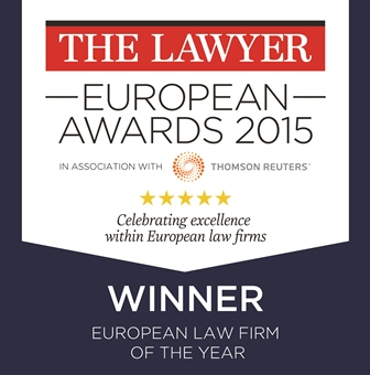The Lawyer European Law Firm of the Year 2015
